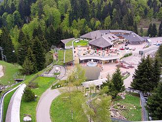 Steinwasen Park - The view of Steinwsaen Park from the suspension bridge. (2004)