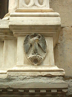 Arte di Calimala - The eagle on a bolt of cloth, symbol of the Arte di Calimala