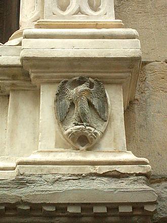 Arte di Calimala - The eagle on a bolt of cloth, symbol of the Arte di Calimala
