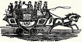 Stockton and Darlington Railway - The Union coach as shown in an advertisement