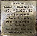 Stolperstein Anna Blumenfeld 6 rue Beaumonts Fontenay Bois 7.jpg