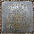Stolperstein Curschmannstraße 39 (Rudolf Klug) in Hamburg-Hoheluft-Ost.JPG