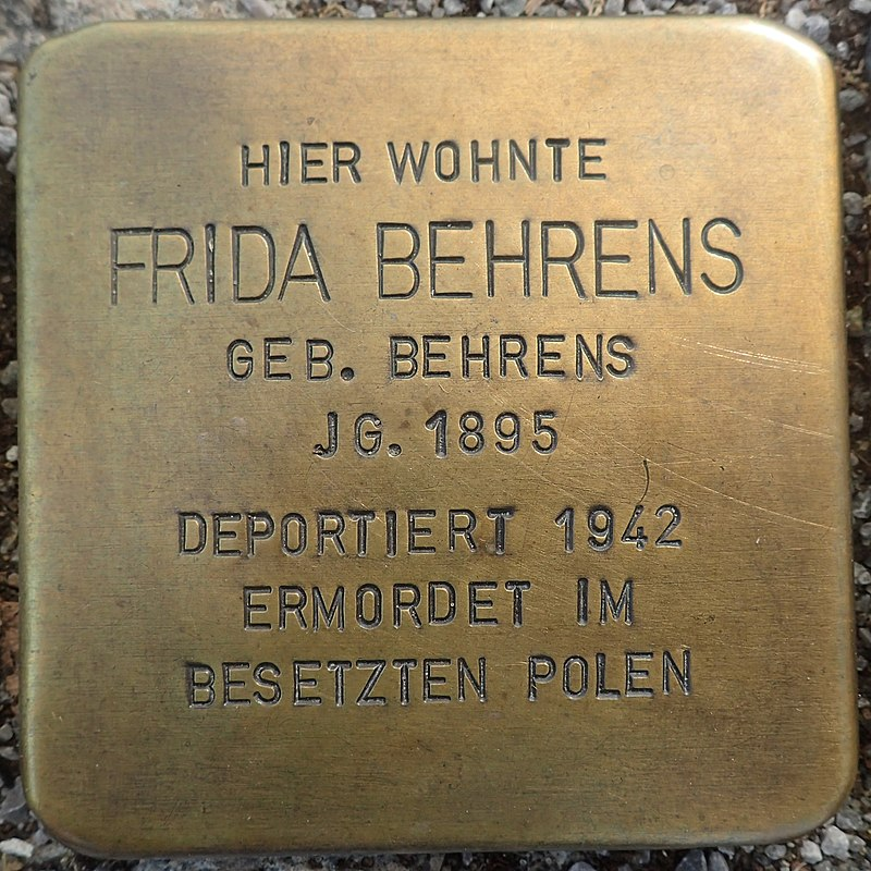 Stolperstein Gardelegen Sandstraße-Marktstraße Frida Behrens