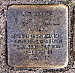 Photo of Israël Ziegel brass plaque