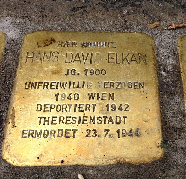 File:Stolperstein Hohenems Hans Elkan.jpg