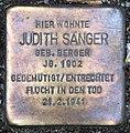 Stolperstein Sächsische Str 6 (Wilmd) Judith Sänger.jpg