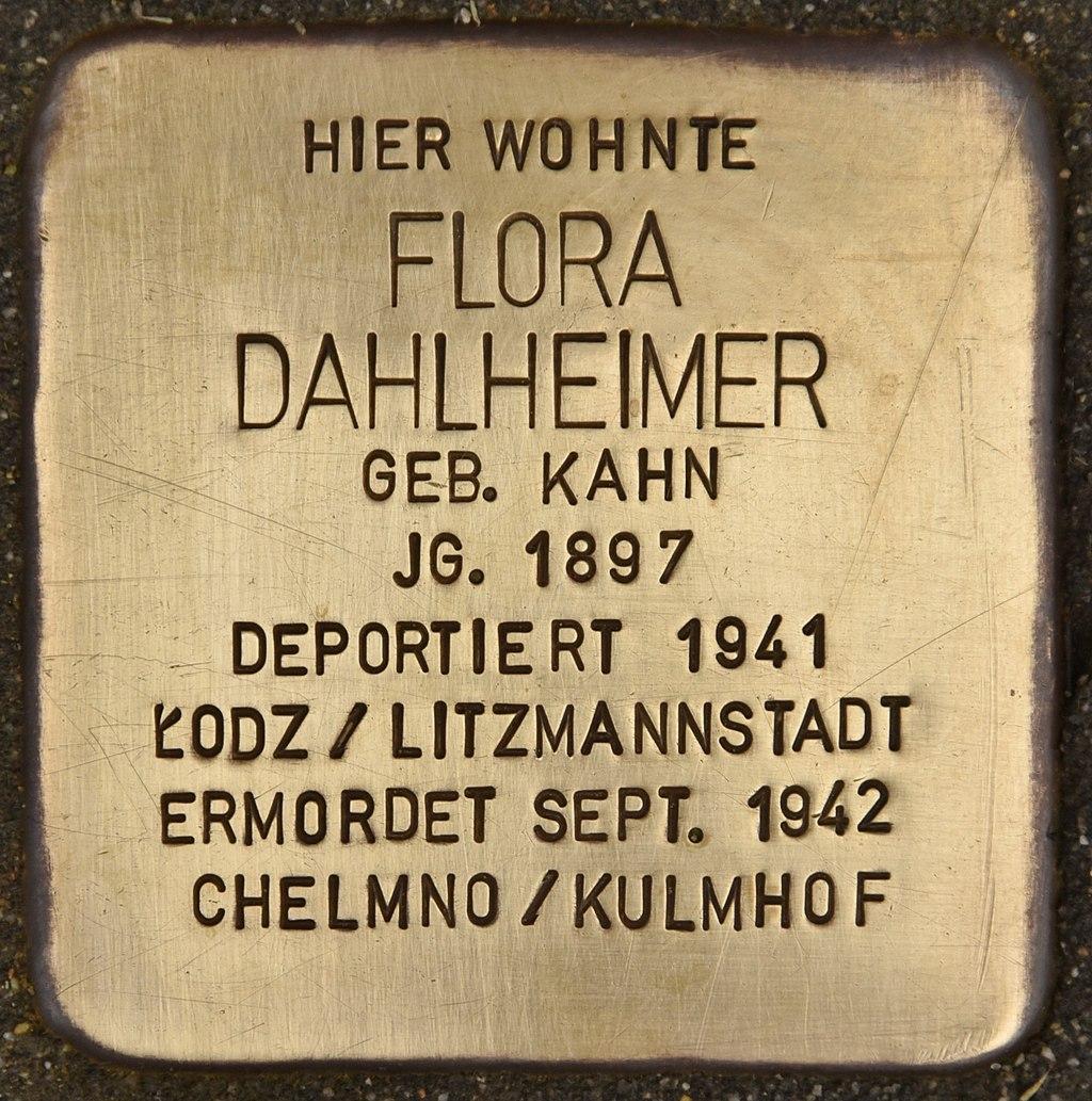 Stolperstein für Flora Dahlheimer (Miltenberg).jpg