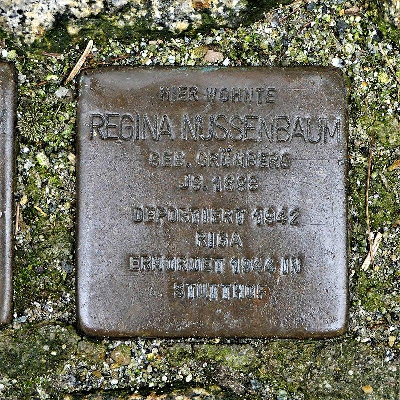 Stolperstein für Regina Nussenbaum, Siebergasse 2, Bautzen.JPG