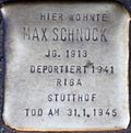 Stumbling block for Max Schnock (Carthusian Wall 7)