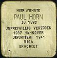Stolpersteine Köln Erzbergerplatz 13 Paul Horn.jpg