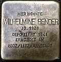 Stumbling block for Wilhelmine Bender (Lungengasse 43)