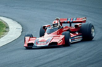 Rolf Stommelen - Stommelen driving for Brabham at the 1976 German Grand Prix.