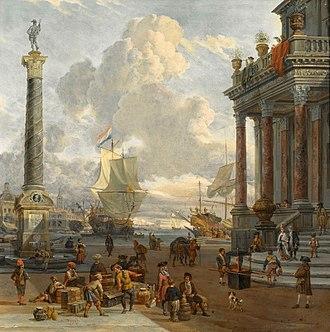 Abraham Storck - Harbour scene