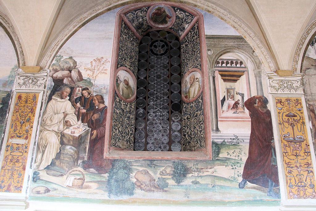 Il Sodoma, Ciclo di affreschi nel Chiostro Grande dell'Abbazia di Monte Oliveto Maggiore, scena 6