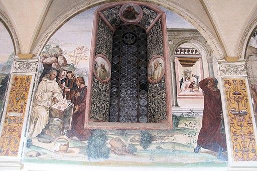 Il Sodoma, Come un Prete ispirato da Dio porta da mangiare a Benedetto nel giorno di Pasqua
