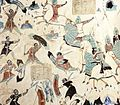 Story of the Five Hundred Robbers (535–557 CE), Mogao Cave 285, Dunhuang, China.jpg
