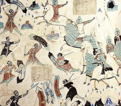 Story of the Five Hundred Robbers (535–557 CE), Mogao Cave 285, Dunhuang, China