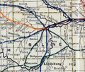 Stouffer's Railroad Map of Kansas 1915-1918 Saline County.png
