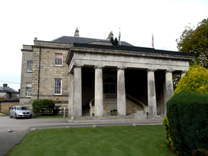Edward St Maur, 11th Duke of Somerset - Stover House, showing the dominant porte cochere added by the 11th Duke