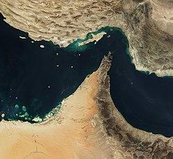Satellitenbild der Straße von Hormus