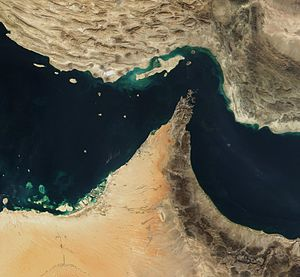 Strait of Hormuz - Satellite image