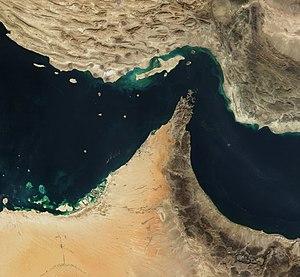 The Strait of Hormuz.