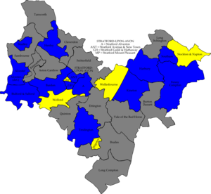 Stratford-on-Avon District Council elections - Image: Stratford avon 2007 election map