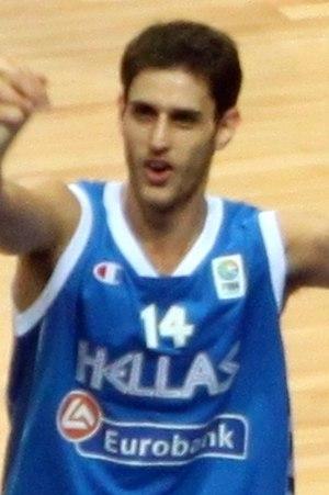 Stratos Perperoglou - Perperoglou celebrating Greece's win against Turkey (76–74) in EuroBasket 2009