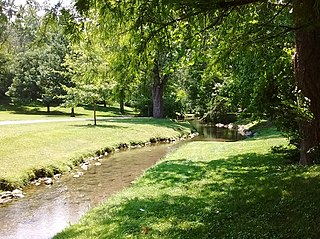 Stroubles Creek river in the United States of America