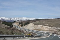 Struma highway heading north close to Sofia 20090407 006.JPG
