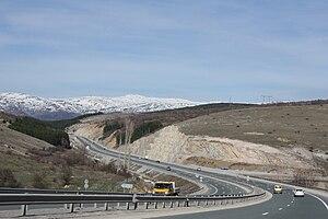 Struma motorway - Image: Struma highway heading north close to Sofia 20090407 006