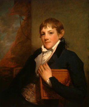 John Randolph of Roanoke - Gilbert Stuart painting of a youthful Randolph