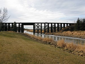 Sturgeon River (Alberta) - Sturgeon River in St. Albert