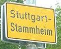 Stuttgart Stammheim Ortschild 9685.jpg