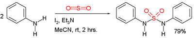Sulfonamide synthesis from aniline and sulfur dioxide