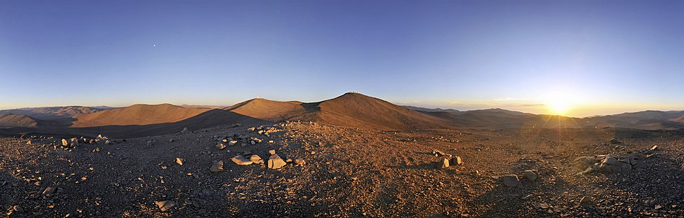Sun, Moon and Telescopes above the Desert (ESO)