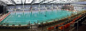 Public swimming pools in Hong Kong - Sun Yat Sen Memorial Park Swimming Pool, opened 2011, in Sai Ying Pun.