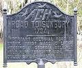 Sunbury Road marker, Midway, GA, US.jpg