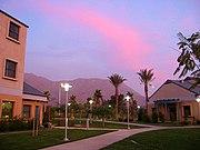 Sunset over UCR residence halls