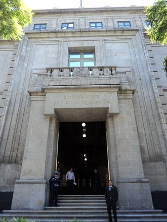 National Supreme Court of Justice - Entrance to the court