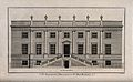 Surgeons' Hall, Old Bailey, London, the facade. Engraving by Wellcome V0013127.jpg