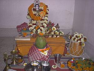 Ayudha Puja - Image: Swaraswatialtar