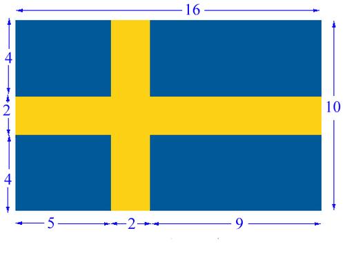 flagga flaggstång proportioner