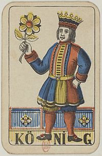 Swiss card deck - 1850 - King of Flowers.jpg