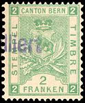 Switzerland Bern 1892-1902 revenue 2Fr - 48B III-96.jpg