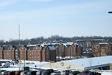 Southwestern portions of the Lindenwood University campus