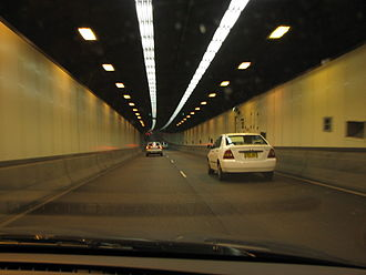 Sydney Harbour Tunnel - Sydney Harbour Tunnel, northbound