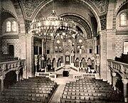 Synagogue consistoriale du quai Kléber intérieur 1898-1940