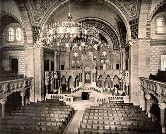 Synagogue du Quai Kléber - Image: Synagogue consistoriale du quai Kléber intérieur 1898 1940