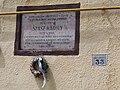 Szász Károly utca 33, plaque, 2019 Kiskunhalas.jpg